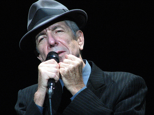 Leonard Cohen @ The O2, photo by jules2view on flickr